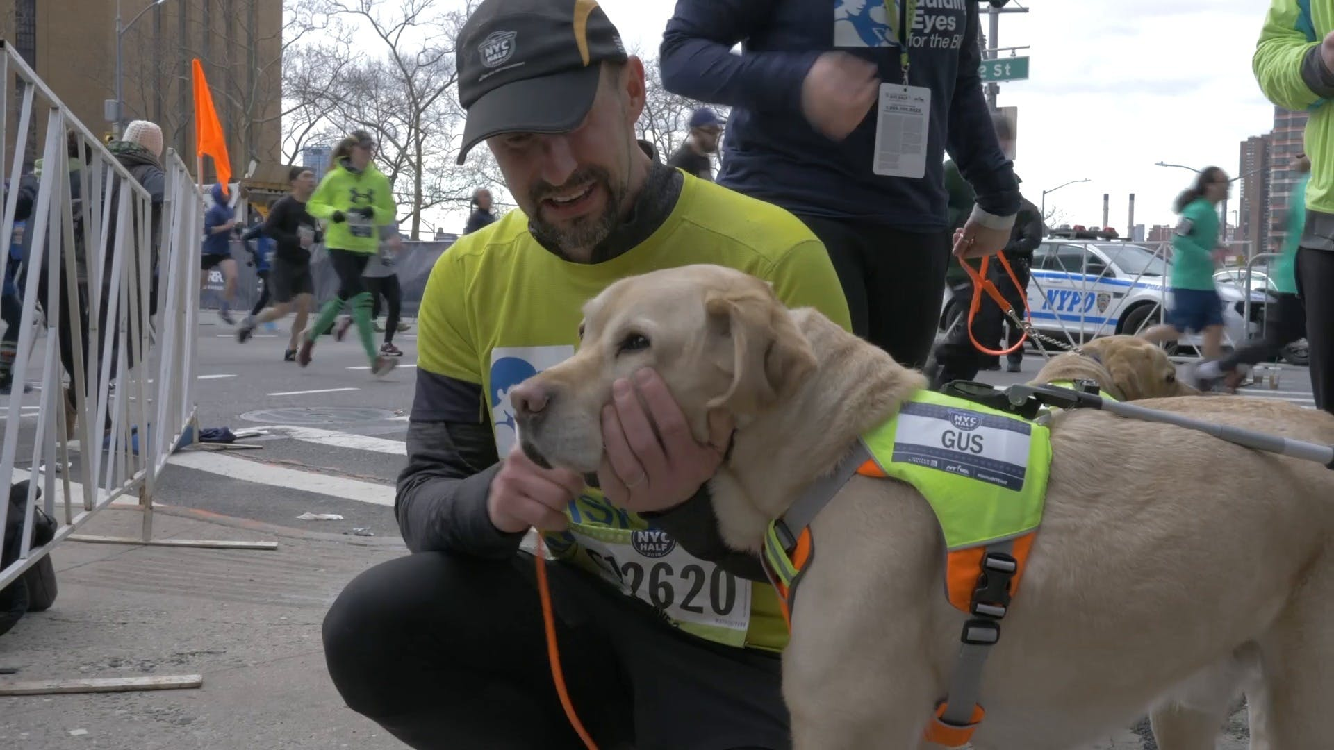 AKC DogCenter: Live from 101 Park - Blind Runner completes the NYC Half-Marathon with Guide Dogs | AKC.TV